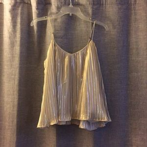 Abercrombie and Fitch gold shimmer tank XS